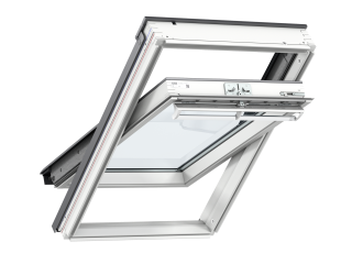 VELUX - GGL CK06 2070 - White-Painted Pine, Centre-Pivot, lam glazing/toughened outer 55x118